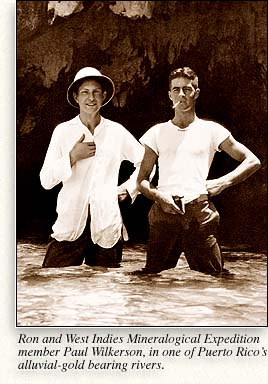 L. Ron Hubbard and Paul Wilkerson, in one of Puerto Rico's alluvial-gold bearing rivers