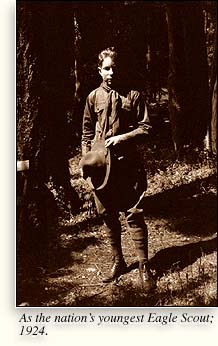 L. Ron Hubbard as youngest Eagle Scout: 1924