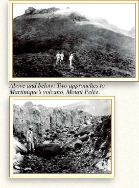 Two approaches to Martinique's volcano, Mount Pelée